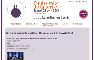 http://www.universitedelaterre.com/videos.php