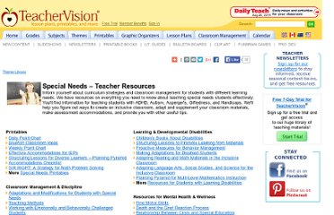 http://www.teachervision.fen.com/special-education/teacher-resources/6640.html