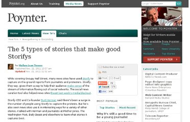 http://www.poynter.org/how-tos/newsgathering-storytelling/153697/the-5-types-of-stories-that-make-good-storifys/