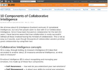 http://www.cmswire.com/cms/social-business/10-components-of-collaborative-intelligence-013549.php