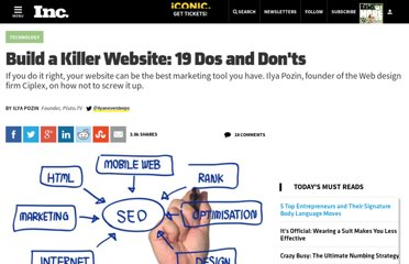 http://www.inc.com/ilya-pozin/build-a-killer-website-19-dos-and-donts.html