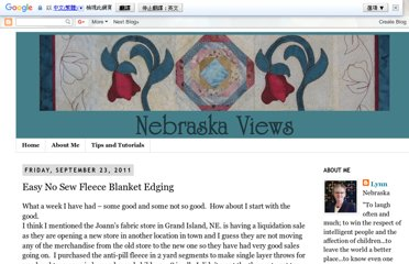 http://nebraskaviews.blogspot.com/2011/09/easy-no-sew-fleece-blanket-edging.html