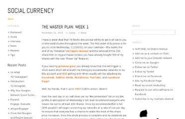 http://roisucks.wordpress.com/2011/11/21/the-master-plan-week-1/