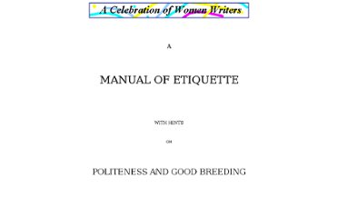 http://digital.library.upenn.edu/women/eyebright/etiquette/etiquette.html