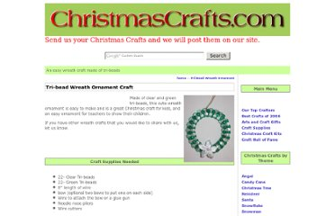 http://www.christmascrafts.com/ornaments/wreath/tri-bead-wreath-ornament.htm