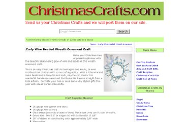 http://www.christmascrafts.com/ornaments/wreath/curly-wire-beaded-wreath-ornament.htm