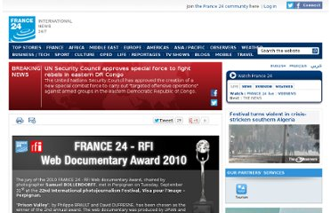 http://www.france24.com/en/FRANCE-24-RFI-web-documentary-award-2010