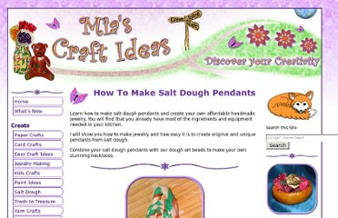 http://www.mias-craft-ideas.com/how-to-make-salt-dough.html