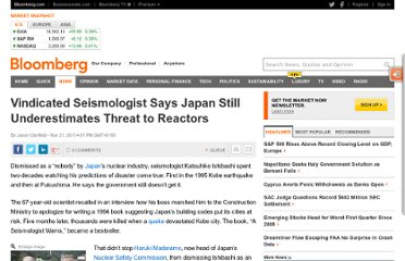 http://www.bloomberg.com/news/2011-11-21/nuclear-regulator-dismissed-seismologist-on-japan-quake-threat.html