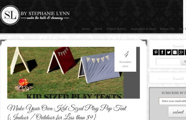 http://www.bystephanielynn.com/2010/11/make-your-own-kid-sized-play-pup-tent.html