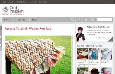 http://www.craftpassion.com/2010/03/recycle-tutorial-woven-rag-rug.html#picgallery