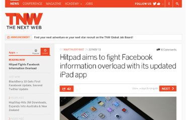 http://thenextweb.com/apps/2011/11/22/hitpad-aims-to-fight-facebook-information-overload-with-its-updated-ipad-app/