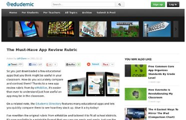 http://edudemic.com/2011/11/app-review-rubric/