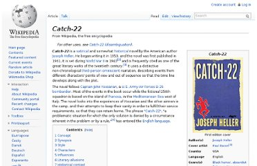 http://en.wikipedia.org/wiki/Catch-22