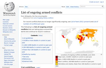 http://en.wikipedia.org/wiki/List_of_ongoing_military_conflicts#Other_conflicts