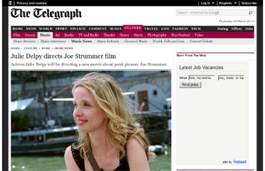 http://www.telegraph.co.uk/culture/music/music-news/8907315/Julie-Delpy-directs-Joe-Strummer-film.html