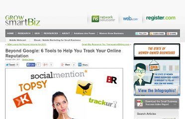 http://www.networksolutions.com/smallbusiness/2011/10/beyond-google-6-tools-to-help-you-track-your-online-reputation/