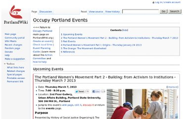 http://portlandwiki.org/Occupy_Portland_Events