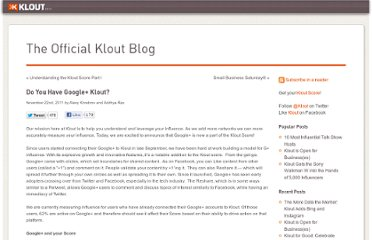 http://corp.klout.com/blog/2011/11/do-you-have-google-klout/