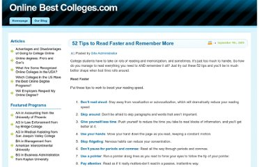 http://www.onlinebestcolleges.com/blog/2009/52-tips-to-read-faster-and-remember-more/
