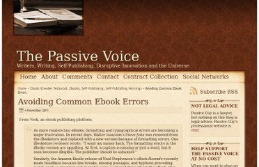 http://www.thepassivevoice.com/11/2011/avoiding-common-ebook-errors/