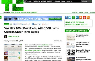 http://techcrunch.com/2011/11/22/oink-hits-100k-downloads-with-a-100k-items-added-in-under-three-weeks/
