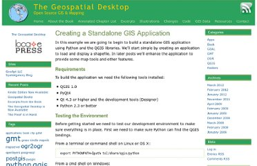 http://desktopgisbook.com/2009/02/creating_a_standalone_gis_application_1/