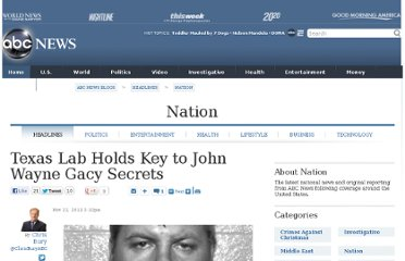 http://abcnews.go.com/blogs/headlines/2011/11/texas-lab-holds-key-to-john-wayne-gacy-secrets/