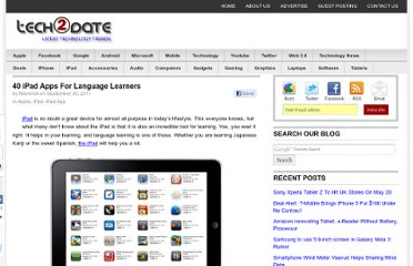 http://www.tech2date.com/40-ipad-apps-for-language-learners.html