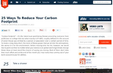 http://list25.com/25-ways-to-reduce-your-carbon-footprint/