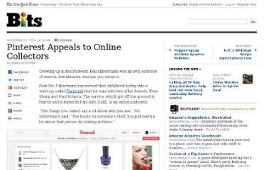 http://bits.blogs.nytimes.com/2011/11/22/pinterest-appeals-to-online-collectors/
