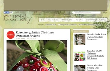 http://www.curbly.com/users/diy-maven/posts/12174-roundup-5-button-christmas-ornament-projects