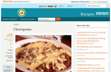 http://www.seriouseats.com/recipes/2011/11/choriqueso-chorizo-with-cheese-hangover-helper-recipe.html