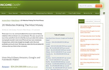 http://www.incomediary.com/20-websites-making-the-most-money