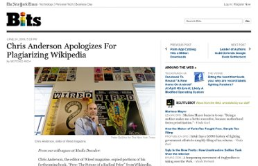 http://bits.blogs.nytimes.com/2009/06/24/chris-anderson-apologizes-for-plagiarizing-wikipedia/