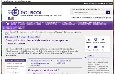 http://eduscol.education.fr/cid58506/description-fonctionnelle-du-service-numerique-de-baladodiffusion.html