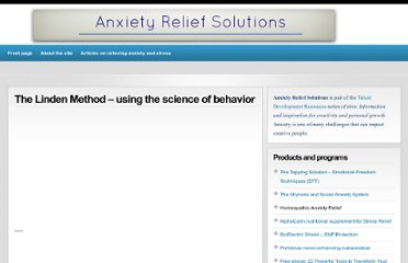 http://anxietyreliefsolutions.com/49/the-linden-method-using-the-science-of-behavior/