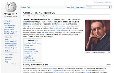 http://en.wikipedia.org/wiki/Christmas_Humphreys
