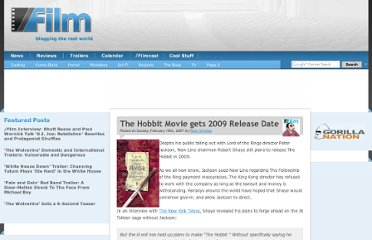 http://www.slashfilm.com/the-hobbit-movie-gets-2009-release-date/