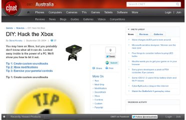 http://www.cnet.com.au/diy-hack-the-xbox-240001405.htm