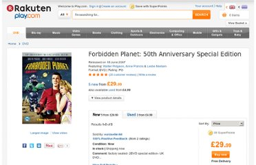http://www.play.com/DVD/DVD/4-/162914/Forbidden-Planet-50th-Anniversary-Special-Edition/Product.html