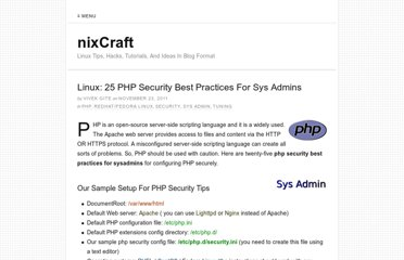 http://www.cyberciti.biz/tips/php-security-best-practices-tutorial.html