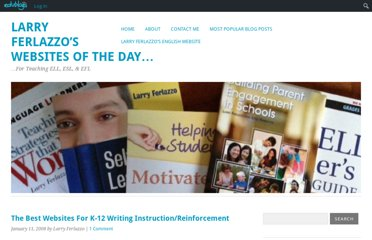 http://larryferlazzo.edublogs.org/2008/01/11/the-best-websites-for-k-12-writing-instructionreinforcment/