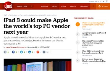 http://news.cnet.com/8301-13579_3-57329405-37/ipad-3-could-make-apple-the-worlds-top-pc-vendor-next-year/