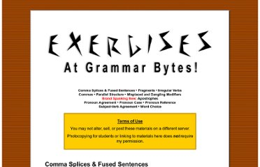 http://chompchomp.com/exercises.htm#Commas