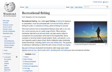 http://en.wikipedia.org/wiki/Recreational_fishing