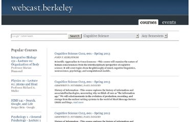 http://webcast.berkeley.edu/series.html#c,d,Cognitive_Science