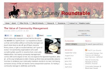 http://community-roundtable.com/2010/01/the-value-of-community-management/