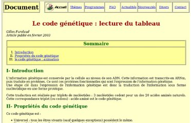 http://www.snv.jussieu.fr/vie/documents/codegenet/index.htm
