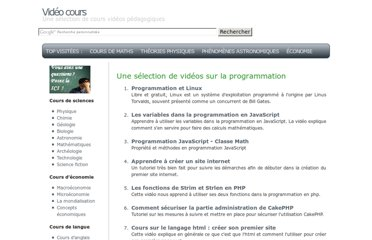 http://video.coursgratuits.net/l-programmation.php
